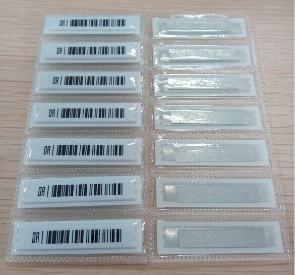 Waterproof Thermal Barcode Labels 58kHz AM EAS Soft Security Label